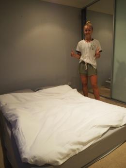 Heldigvis har vi en madrass :-D