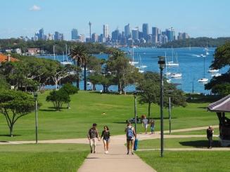 Utsikt til Sydney city